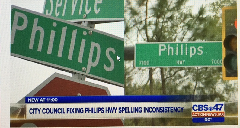 """CM Becton's Bill 2016-679 Passes – Ordinance for Correcting the Name of """"Philips"""" Highway"""