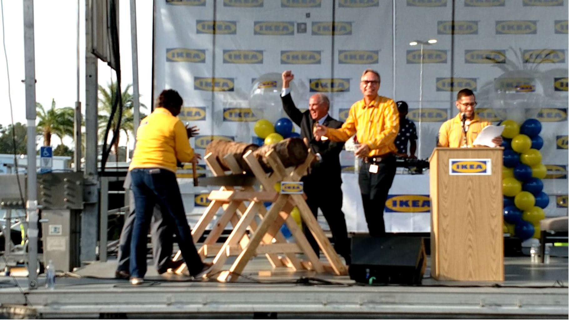 IKEA Opens with Big Fanfare as CM Becton Helps Cut Ceremony Log