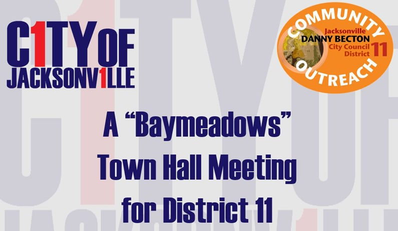 CM Becton Host Town Hall Meeting for Baymeadows Area Residents