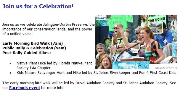 CM Becton Speaks at Celebration Rally for Julington-Durbin Preserve